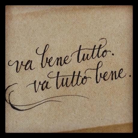 Va Bene Tutto. Va Tutto Bene.  by Emily Duong